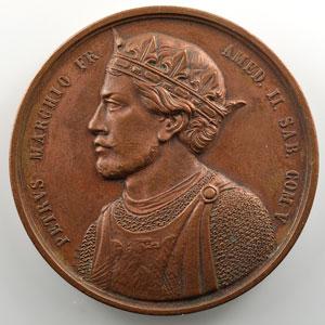 PT (Pietro Thermignon)   Médaille en bronze  52mm   Pierre I de Savoie (1057-1078)    TTB+