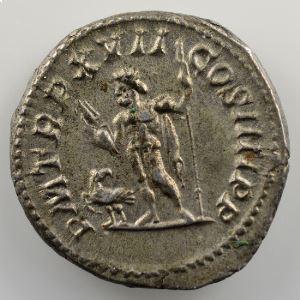 R/ P M TR P XVII COS III P P  (Rome 214)    SUP