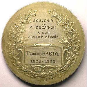 Rasumny   Souvenir de P. DUCANCEL à son ouvrier dévoué   argent   60mm    SUP