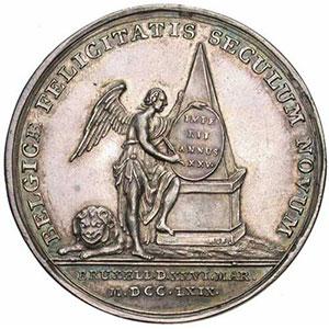 Roettiers et Harrewyn   Médaille en argent   45mm   1769    SUP