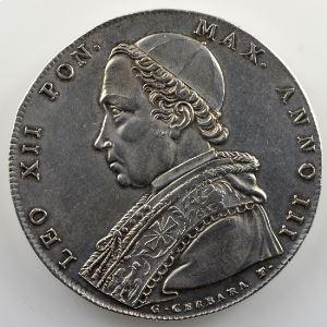 Scudo d'argent   1825 III B (Bologne)    TTB+/SUP