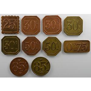Série de 10 jetons différents    TTB+