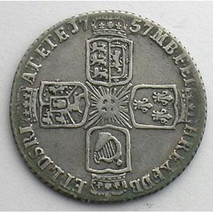 Sixpence   1757    TB+