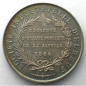 Société Industrielle d'Elbeuf   argent   poinçon corne (1880-  )  32,5mm    SUP/FDC