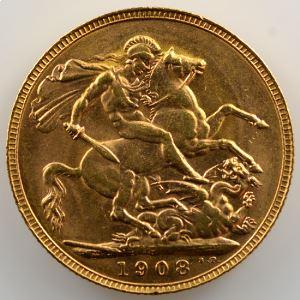 Souverain / Sovereign   1908 P (Perth)    SUP