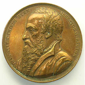 Strasbourg   Jean Sturm  1er recteur de l'Académie   bronze 50mm    TTB