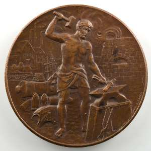 TROTIN   Médaille en bronze  42mm   Compagnie française des métaux    SUP/FDC
