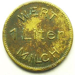 WERT 1 LITER MILCH   Lt, R,   33 mm    TTB